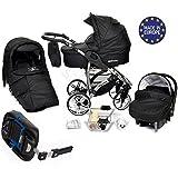 Allivio - Baby Sportive Système de voyage 3 en 1 avec landau, siège auto, base Isofix, poussette et accessoires bébé
