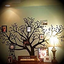 Huge Extraordinary 8' Foot x 9' Foot BIG Removable XXL Family Photo Tree Wall Decal