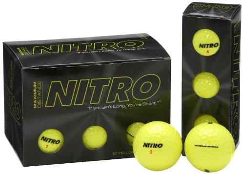 Nitro Maximum Distance Golf Ball (12-Pack), Yellow