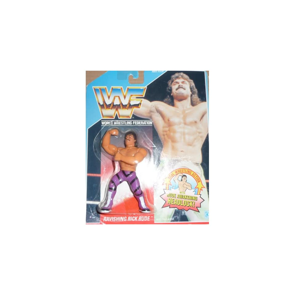 ba1de6a3 WWE WWF Hasbro Ravishing Rick Rude NEW RARE MOC on US Card Series 1  Collectible Wrestling Figure