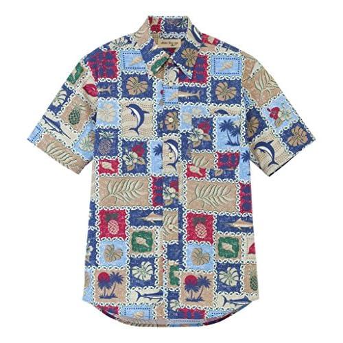 (フェイスミックス)FACEMIX アロハシャツ FB4519U 7 ブルー LL