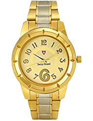 Swiss Grand SG-1174 Golden Coloured With Gold Stainless Steel Strap Analog Quartz Watch For Women