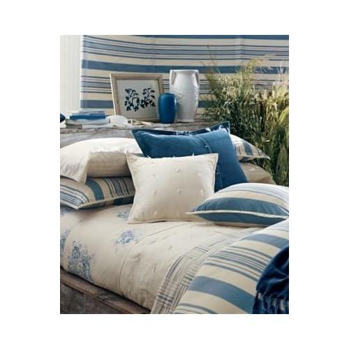 Ralph Lauren Catalina Island Blue Cream King Stripe Comforter