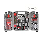 Apollo Tools DT9408 53 Piece Household Tool Set with Wrenches, Precision Screwdriver Set and Most Reached for Hand Tools in Storage Case (F?ur ???k)