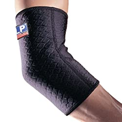 LP Supports LP Extreme Coolprene Elbow Support (Black), Small: 9-10ins