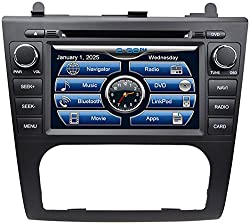 See 2007-2012 Nissan Altima In-Dash GPS Navigation DVD CD Player Bluetooth A2DP Audio Streaming 7 Inch Touchscreen FM AM Radio USB SD iPod-Ready iPhone-Ready Stereo Deck 2006 2007 2008 2009 2010 2011 2012 Car Automatic A/C AV Receiver Details