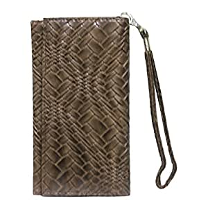 Jo Jo A5 Bali Leather Wallet Universal Pouch Cover Case For Micromax Canvas Nitro 4g E455 Brown