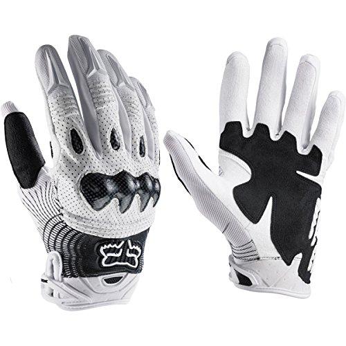 Fox Racing 2011 Bomber Full Finger MTB & BMX Cycling Gloves - 03009 (White/Black - L(10))