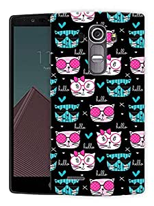 """Chic Cats Trendy Printed Designer Mobile Back Cover For """"LG G4"""" By Humor Gang (3D, Matte Finish, Premium Quality, Protective Snap On Slim Hard Phone Case, Multi Color)"""
