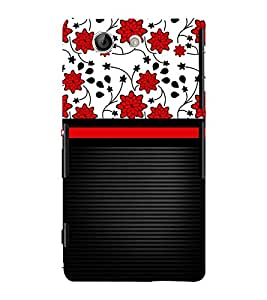 Lovely Flowers Girl Design 3D Hard Polycarbonate Designer Back Case Cover for Sony Xperia Z4 Mini :: Sony Xperia Z4 Compact
