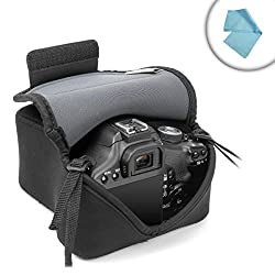 DSLR Day Holster Camera Case with DuraNeoprene Protection by USA Gear - Works With Canon EOS 5DS , Rebel T6S , 7D Mark II and More Canon DSLR Cameras
