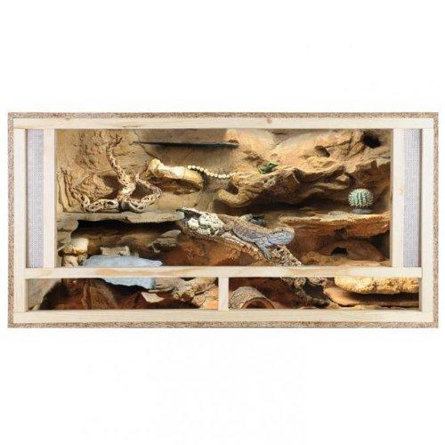 Repiterra Terrarium 120x60x60 Front mit Versiegelung Holzterrarium Holz Terrarium