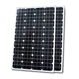 Power Hunt 100w Mono Solar Panel for 12v/24v/48v Charging (Set of 2)