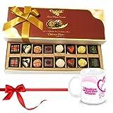 Chocholik Luxury Chocolates - Cheerful Treat Of Mix Assorted Chocolates With Love Mug