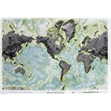 "American Educational Bathymetric Map, 38"" Length x 50"" Width"