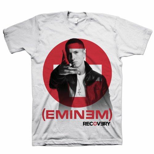 Bravado Men'S Eminem Recovery T-Shirt, White, Small