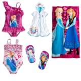 Disney Store Frozen Swim Set: 2 Swimsuits/Cover-Up/F... Size Large by Disney