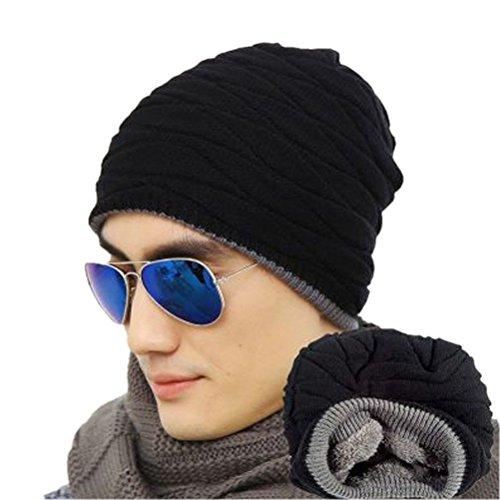 rosenice-cappelli-invernali-uomo-foderato-weichen-spessa-maglia-skull-cap-berretti-slouchy-hut-marin