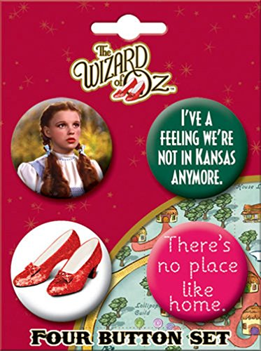 ATA-BOY Wizard of Oz Dorothy Button-Pin (4-Pack)