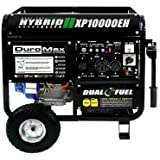 DuroMax XP10000EH 18HP Dual Fuel Propane/Gas Powered Portable Electric Start Generator, 10000-watt