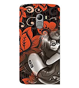 PrintDhaba Music Girl D-4115 Back Case Cover for LENOVO VIBE K4 NOTE (Multi-Coloured)