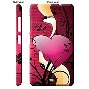 TGK Pink Heart On A Plant Back Cover Case for Microsoft Nokia Lumia 535 - Multicolor