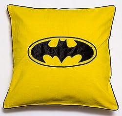 Bandbox Batman Cushion Cover - Yellow ( Size-- 16 in. x 16 in.)