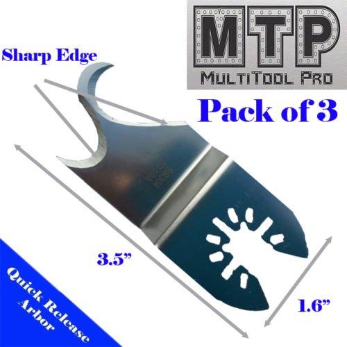 3x Multi Purpose Cutting Knife Blade Oscillating Multi Tool for Black & Decker Fein Craftsman Makita Dewalt Black and Decker