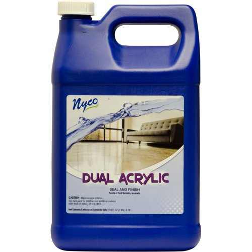 Nyco Products Nl90433 Dual Acrylic Seal And Finish, Acrylic Scent, 8.0 - 8.8 Ph, 1 Gallon Bottle (Case Of 4) front-382432