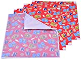 Kuchipoo Baby Mat Changing Mat - Pack of 3 + 1 (Red , 60 cms x 45 cms) Assorted Patterns