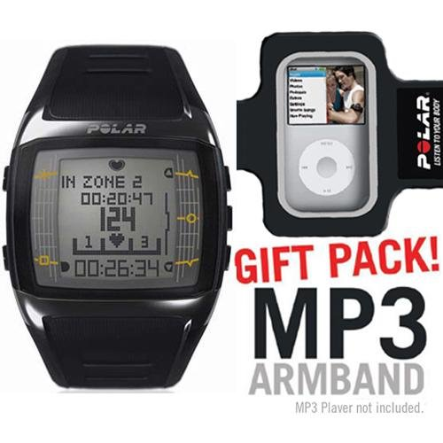 Cheap Polar FT60 Heart Rate Monitor Male Black with White Display with MP3 Armband (B003KIYBYK)