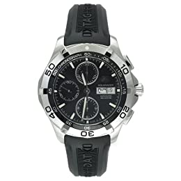 TAG Heuer Men s CAF2010 FT8011 Aquaracer Automatic Chronograph Rubber Strap Watch