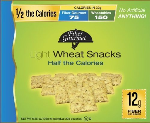 FiberGourmet Light Wheat Snacks, 6.9-Ounce Boxes (Pack of 6)