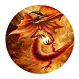 Generic Personalized Fire Dragon Special Effect Design Round Mouse Pad