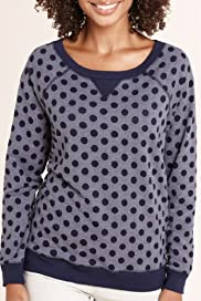 Spot Print Burnout Sweat Top [T41-2635B-S]