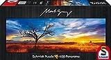 Schmidt-Spiele-59287-Mark-Gray-Panoramapuzzle-Desert-Oak-at-Sunset-Northern-Territory-Australia-1000-Teile