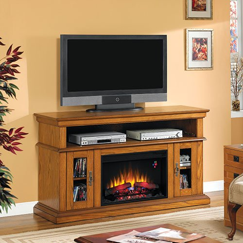 Classicflame Brookfield Infrared Electric Fireplace Entertainment Center In Premium Oak
