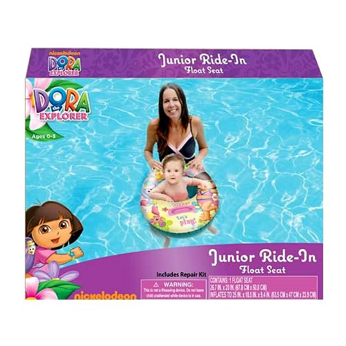 Dora the Explorer Baby Toddler Ride-on Float Seat - Swim Raft, Ring, Pool, Beach