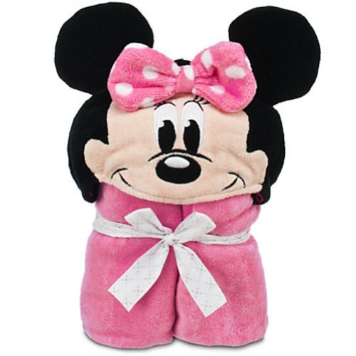 Disney Deluxe Minnie Mouse Hooded Towel for Baby Toddlers Boys Clubhouse - 1