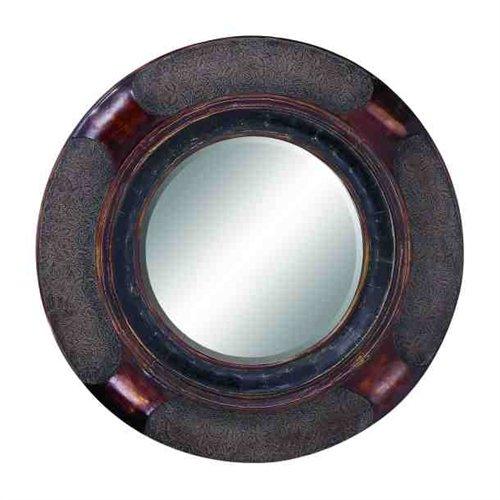 Old Look Victorian Round Mirror front-120030