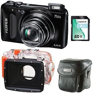 Fuji Finepix F660 EXR Black Underwater Digital Camera Dive Bundle (Waterproof to 40 Metres Depth, 16MP, 15x Optical Zoom, 3-inch LCD, Official Fuji UK Stock)