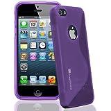 GreatShield Guardian Series Slim Fit S-Line Design TPU Case for Apple iPhone 5 / 5S (Purple)