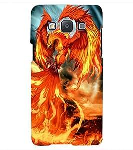 ColourCraft Flaming Dragon Design Back Case Cover for SAMSUNG GALAXY A5 A500F