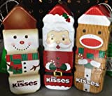 Hersheys Kisses Christmas Tin Ornaments Chocolate Candy (Pack of 3)