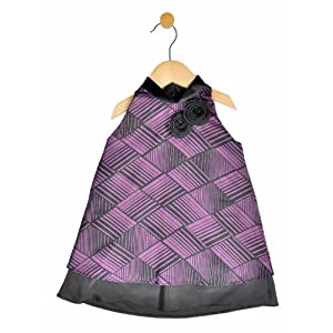 girls purple printed dress - purple, 2-3 y