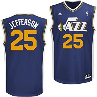 Al Jefferson Utah Jazz Navy NBA Youth Revolution 30 Replica Jersey by adidas