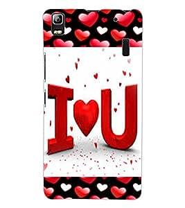 ColourCraft Love Quote Design Back Case Cover for LENOVO A7000 PLUS