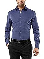 Vincenzo Boretti Camisa Hombre (Azul Marino)