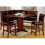 6 pc Dark Brown Nook Set