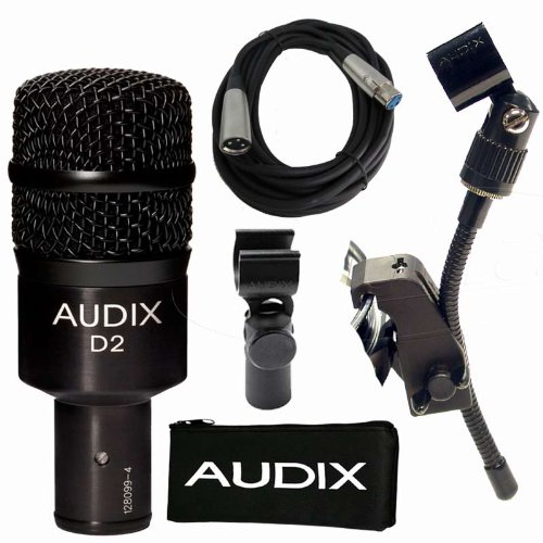 Audix D2 Dynamic Drum Rack Tom Microphone Saxophone Mic W Cable And Clip